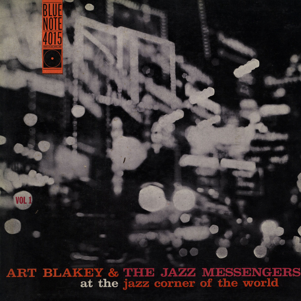 art blakey &amp; the jazz messengers - at the jazz corner of the world vol. 1 (album art)