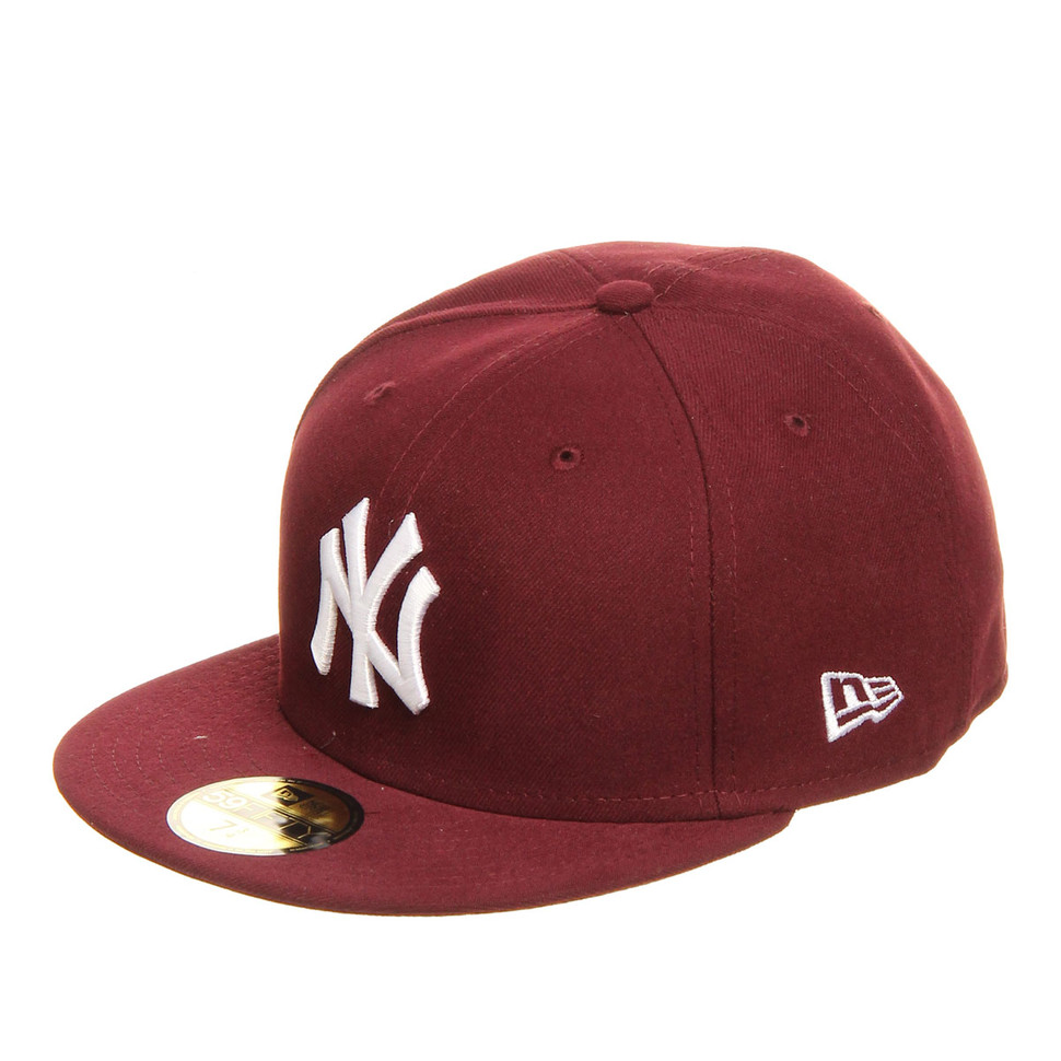 New-Era-New-York-Yankees-MLB-League-Basic-59Fifty-Cap-MAROON-W