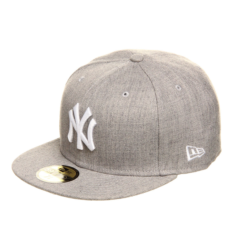 New-Era-New-York-Yankees-MLB-League-Basic-59Fifty-Cap-HEATHER-GR