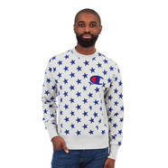 Champion - All Over Stars Crewneck Sweatshirt