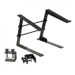 Adam Hall - Laptop Stand with Clamps BLACK