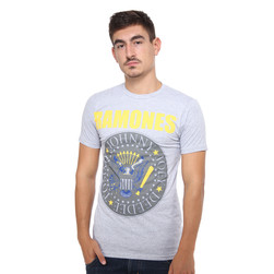 Ramones - Yellow And Blue Seal T-Shirt