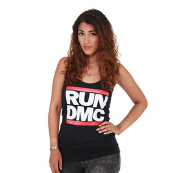 Run DMC - Logo Racerback Women Tank Top