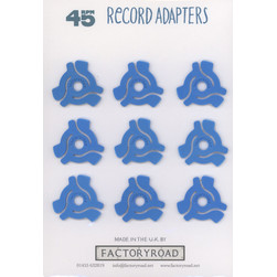 Factory Road - A5 Retail Card 45 RPM Adapters (Pack of 9)