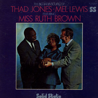 THAD JONES & MEL LEWIS FEATURING RUTH BROWN - The Big Band Sound Of - LP