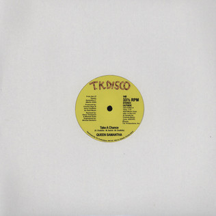 QUEEN SAMANTHA / MAD DOG FIRE DEPARTMENT - Take A Chance / Cosmic Funk - 12 inch x 1