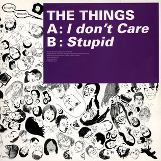 THINGS, THE - I Don't Care / Stupid - 12 inch x 1