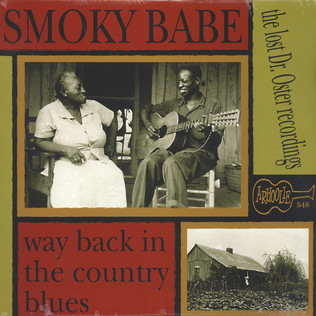 SMOKY BABE - Way Back In The Country Blues - LP