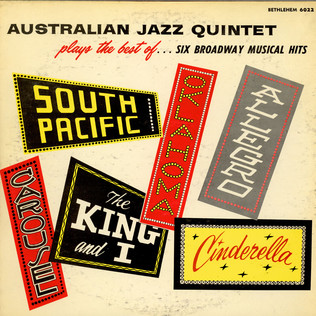 AUSTRALIAN JAZZ QUINTET, THE - Plays The Best Of...Six Broadway Musical Hits - LP