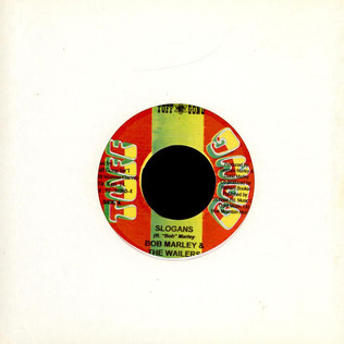 BOB MARLEY & THE WAILERS - Slogans / Stand Up Jamrock - 7inch x 1