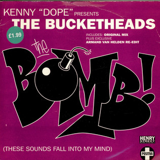 KENNY ''DOPE'' GONZALEZ PRESENTS THE BUCKETHEADS - The Bomb! (These Sounds Fall Into My Mind) - 7inch x 1
