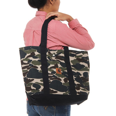 carhartt wip simple tote bag camo isle black. Black Bedroom Furniture Sets. Home Design Ideas