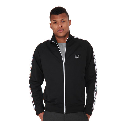 fred perry laurel wreath tape track jacket black. Black Bedroom Furniture Sets. Home Design Ideas