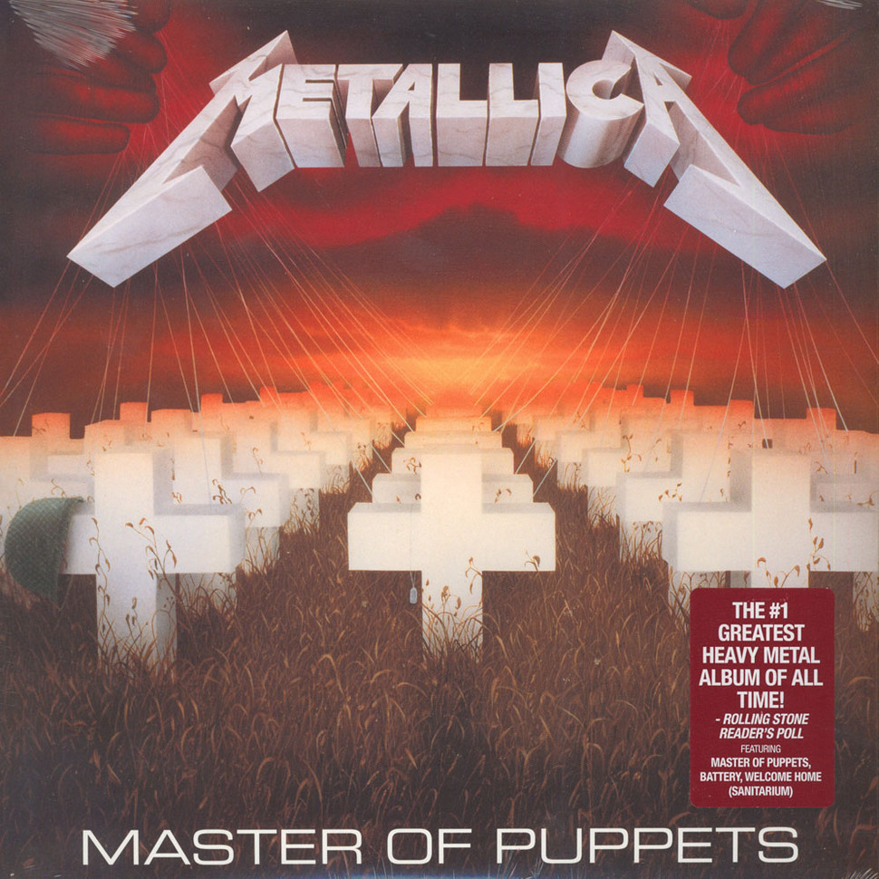 Metallica master of puppets vinyl lp 1986 us reissue for House music 1986