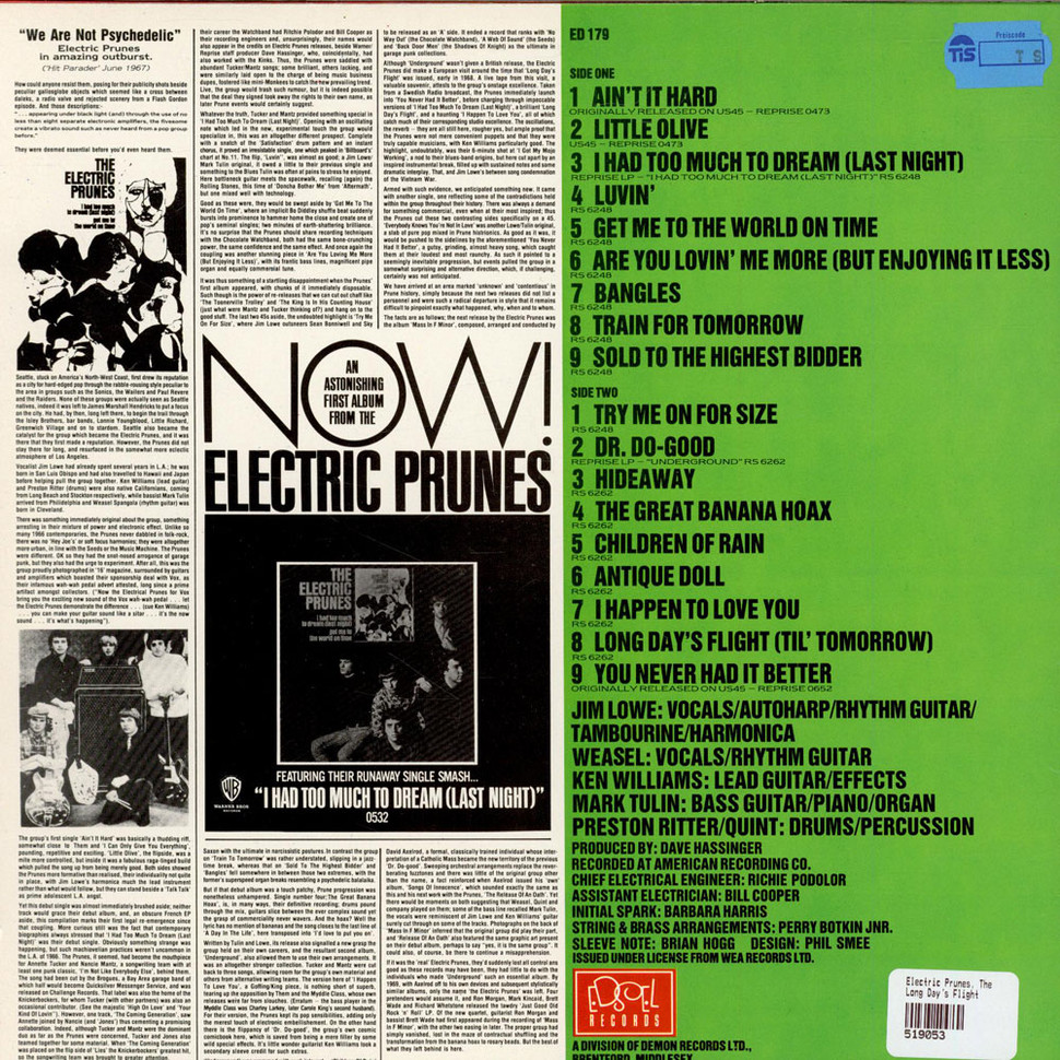 Electric Prunes Long Days Flight