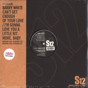 BARRY WHITE - Can't get enough of your love baby - 12 inch x 1