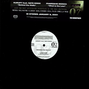 KURUPT / PHAROAHE MONCH - Behind the walls feat. Nate Dogg  / What is the law - 12 inch x 1