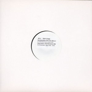 DAFT PUNK - Aerodynamic one more time - alive 2008 remix - 12 inch x 1