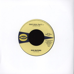 RON BUFORD - Deep Soul Part 2 / More Soul - 7inch x 1
