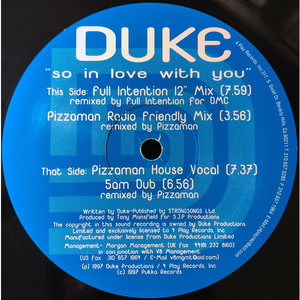 DUKE - So In Love With You - Maxi x 1
