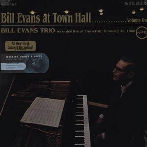 BILL EVANS - Bill Evans At Town Hall Vol. 1 - 33T