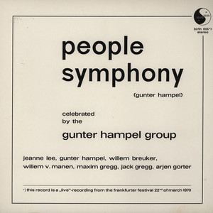 GUNTER HAMPEL - People Symphony - 33T