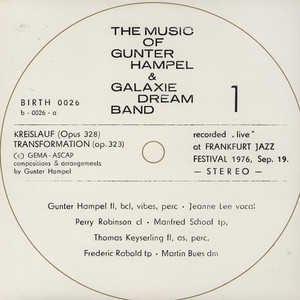 GUNTER HAMPEL & GALAXIE DREAM BAND - Transformation - LP