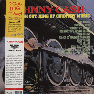 JOHNNY CASH - The Rough Cut King Of Country Music - 33T + bonus