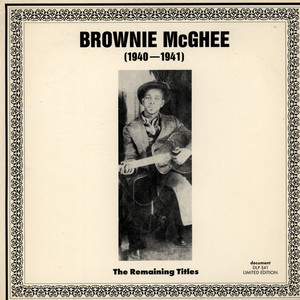 BROWNIE MCGHEE - The Remaining Titles - 33T