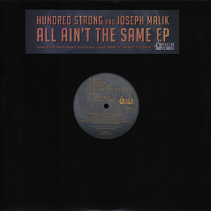 HUNDRED STRONG & JOSEPH MALIK - All Aint The Same EP - 12 inch x 1