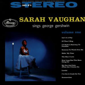 Sarah Vaughan Sarah Vaughan Sings George Gershwin Volume One LP
