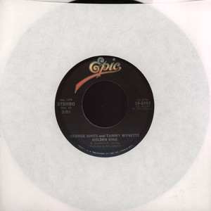 GEORGE JONES & TAMMY WYNETTE - Golden Ring - 7inch x 1