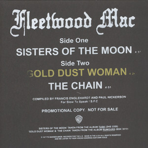 FLEETWOOD MAC - Sisters Of The Moon - 12 inch x 1
