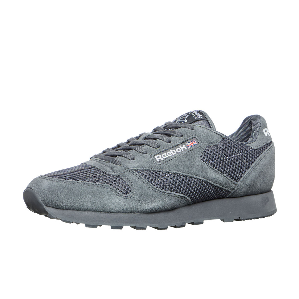 Reebok Alloy - Classic Leather Knit Alloy Reebok / White Sneaker Sportschuhe b1fd51