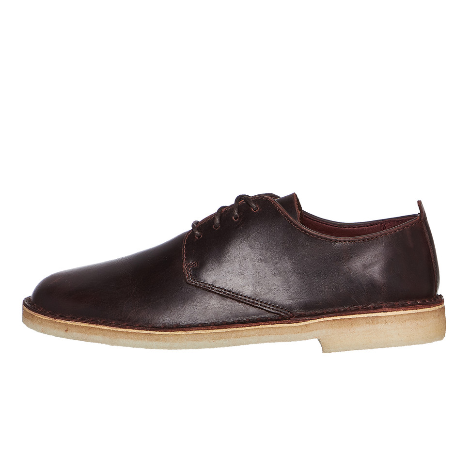 Clarks - Desert London Chestnut Leather Halbschuhe Schuhe