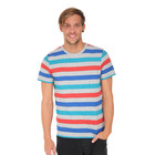 Lee - Grey Mele Stripe T-Shirt