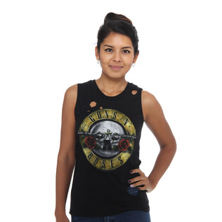Guns N Roses - Circle Guns Destroyed Women Tank Top