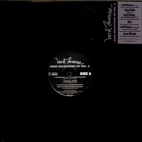 Lord Finesse - Rare Selections EP Vol. 2