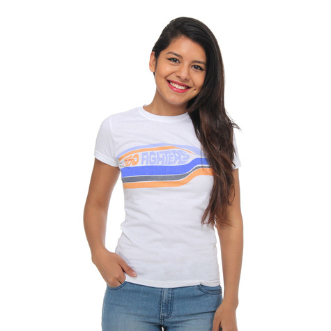 Foo Fighters - Striped Tissue Womens T-Shirt