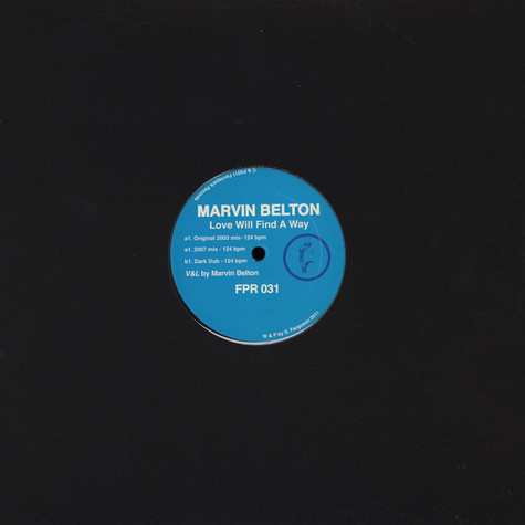 Marvin Belton - Love Will Find A Way