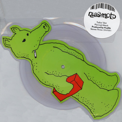 Quasimoto - Talkin Shit - Die Cut Picture Disc Green Quas Version