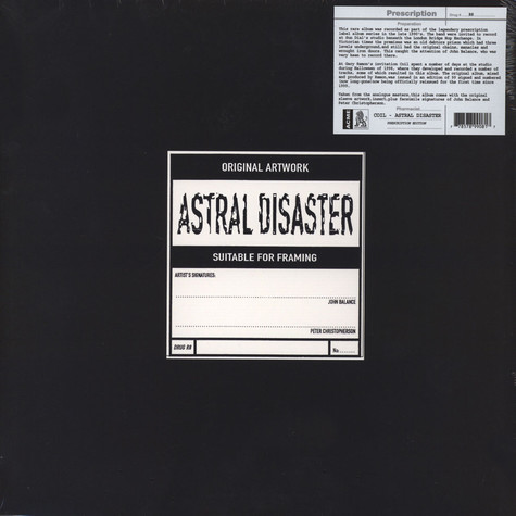 Coil - Astral Disaster Prescription Edition On Yellow Vinyl