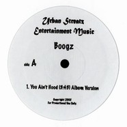 Boogz - You ain't hood