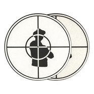 Sicmats - Public Enemy Scope Slipmat White / Black