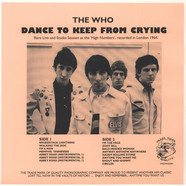 Who, The - Dance To keep From Crying