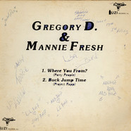 Gregory D. & Mannie Fresh - Where You From? (Party People)