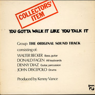 Original Sound Track, The - You Gotta Walk It Like You Talk It (Or You'll Lose That Beat)