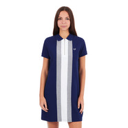 Fred Perry - Vertical Bomber Stripe Pique Dress