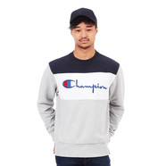 Champion - Color Block Reverse Weave Terry Crewneck Sweater