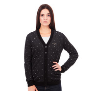 Fred Perry - V Neck Polka Dot Cardigan